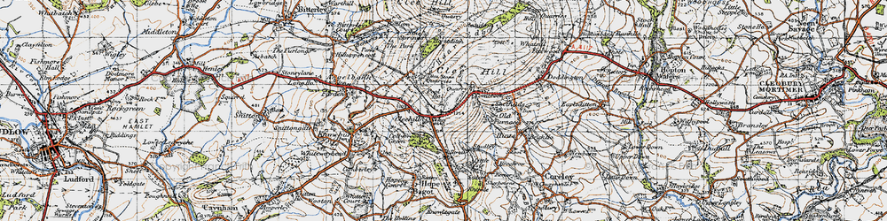 Old map of Titrail in 1947