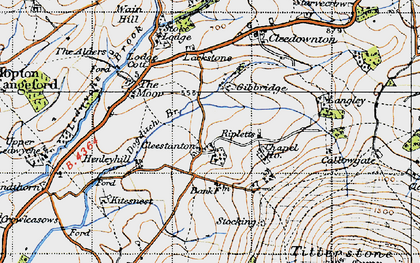 Old map of Cleestanton in 1947