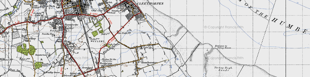Old map of Cleethorpes Zoo in 1946