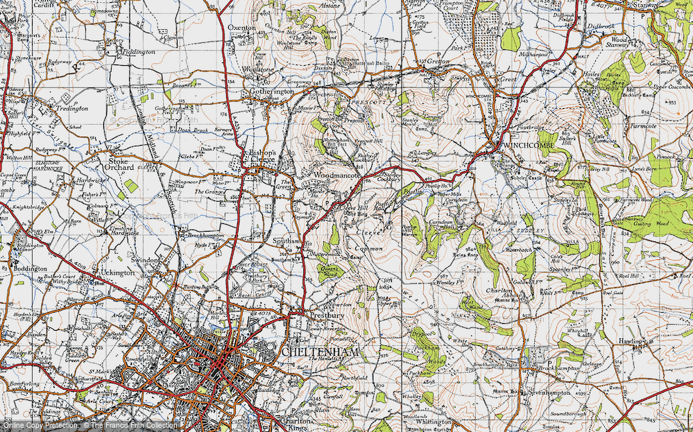 Old Map of Cleeve Hill, 1946 in 1946
