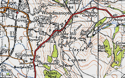 Old map of Cleeve Hill in 1946