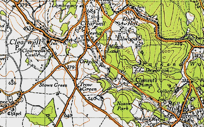 Old map of Clements End in 1946