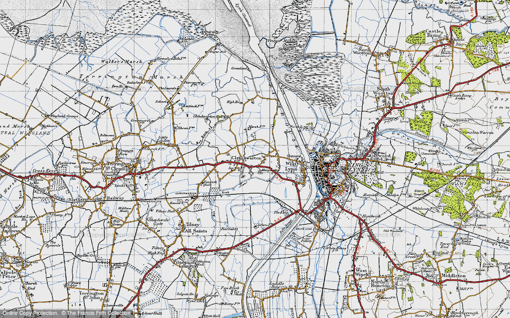Old Map of Historic Map covering Banklands in 1946