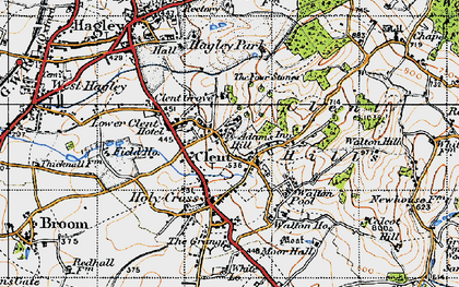 Old map of Adam's Hill in 1947