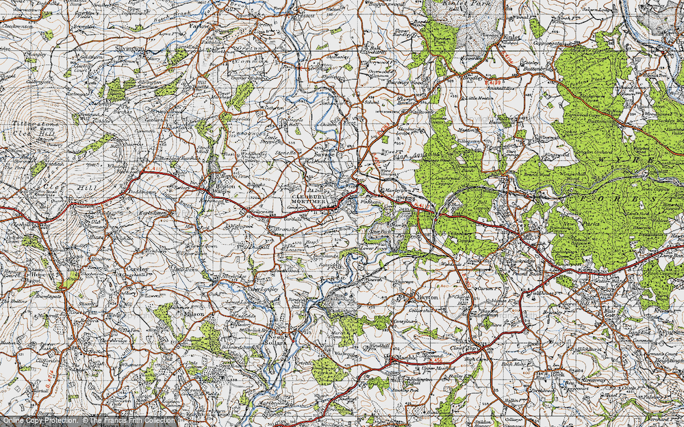 Old Map of Cleobury Mortimer, 1947 in 1947