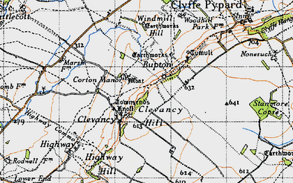 Old map of Woohill Village in 1947