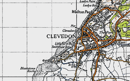 Old map of Clevedon in 1946