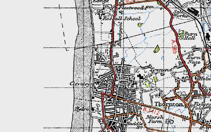 Old map of Cleveleys in 1947