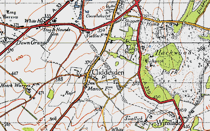 Old map of Audleys Wood in 1945