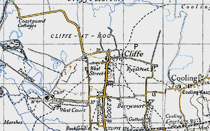 Old map of Cliffe in 1946