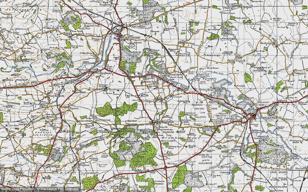 Old Map of Clifford, 1947 in 1947