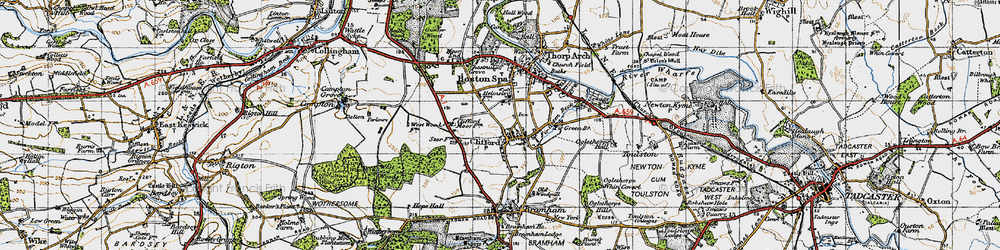 Old map of Clifford in 1947