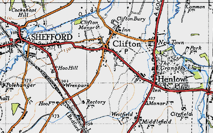 Old map of Clifton in 1946