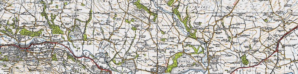 Old map of Weston Moor in 1947