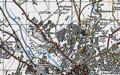 Old map of Clifton in 1947