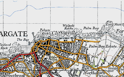 Old map of Cliftonville in 1947