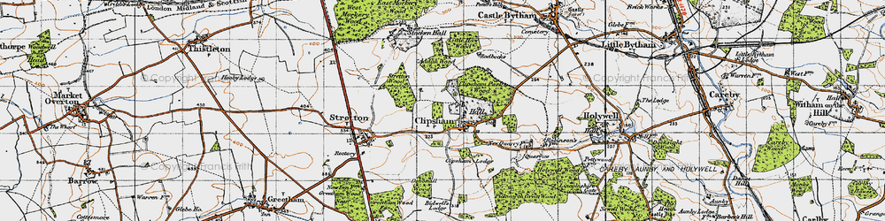 Old map of Addah Wood in 1946