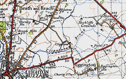 Old map of Leighton Buzzard Railway in 1946