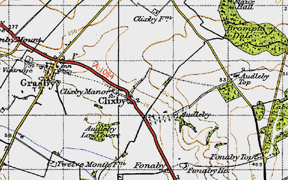 Old map of Audleby in 1946