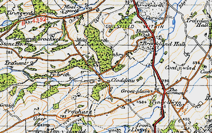 Old map of Y Golfa in 1947