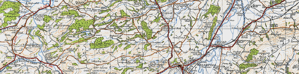 Old map of Tirnewydd in 1947