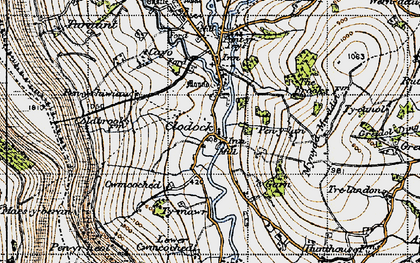 Old map of Clodock in 1947