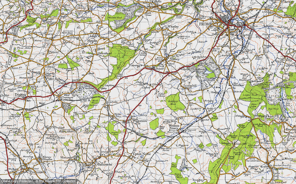 Old Map of Cloford, 1946 in 1946