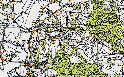 Old map of Backbury Hill in 1947