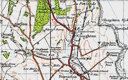 Old map of Cloughton in 1947