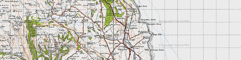 Old map of Lindhead Gorse in 1947