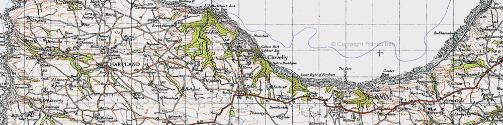 Old map of Wood Rock in 1946