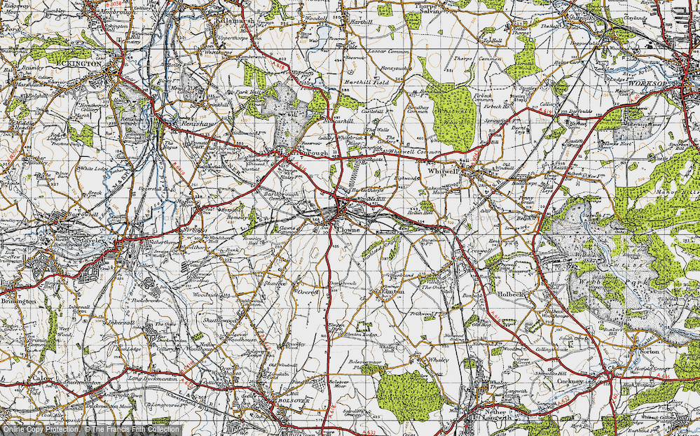 Old Map of Clowne, 1947 in 1947