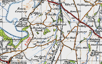 Old map of Adra-felin in 1947
