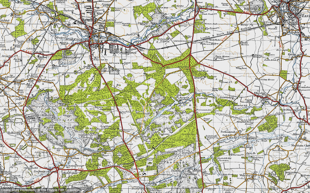Old Map of Clumber Park, 1947 in 1947
