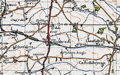 Old map of Clynderwen in 1946