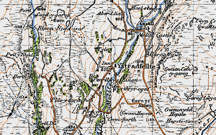 Old map of Clungwyn Falls in 1947