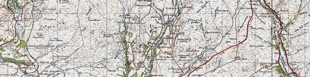Old map of Aber-llia in 1947