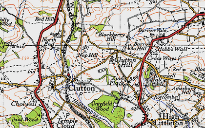Old map of Zion Place in 1946