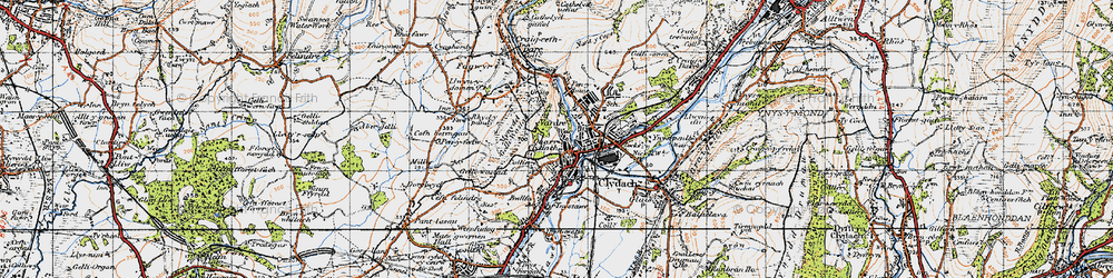 Old map of Clydach in 1947