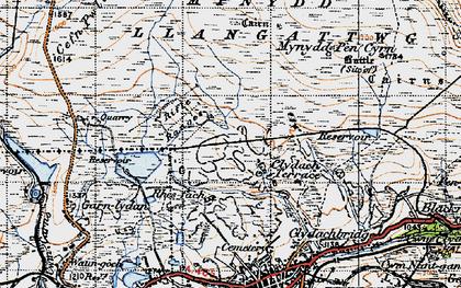 Old map of Agen Allwedd in 1947