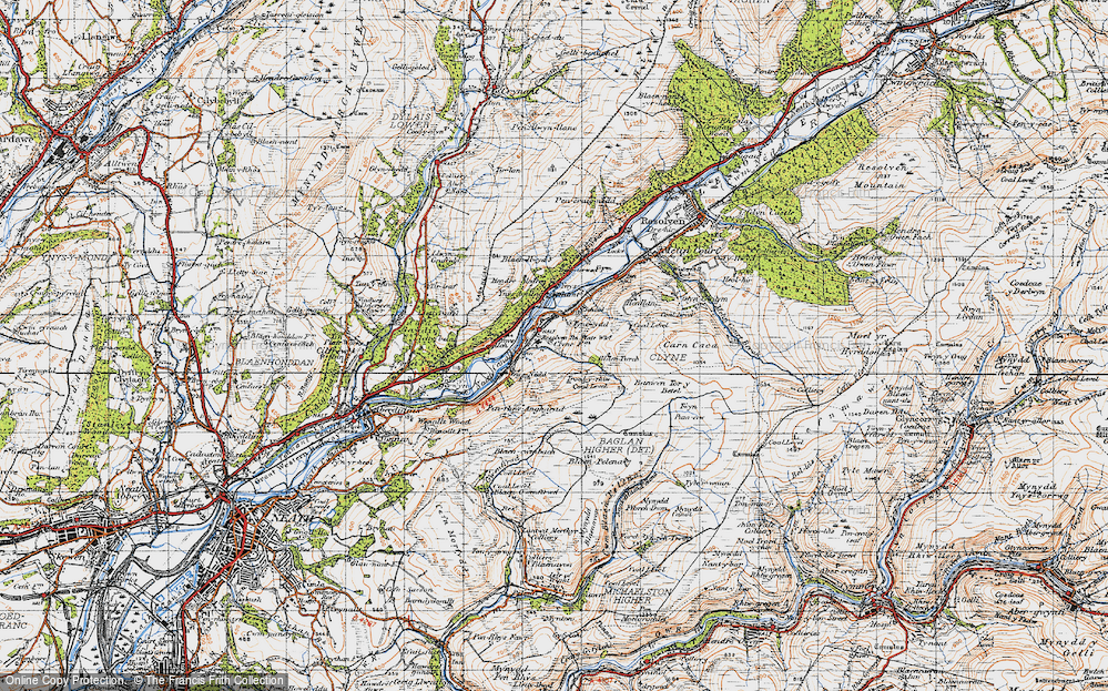 Old Map of Clyne, 1947 in 1947