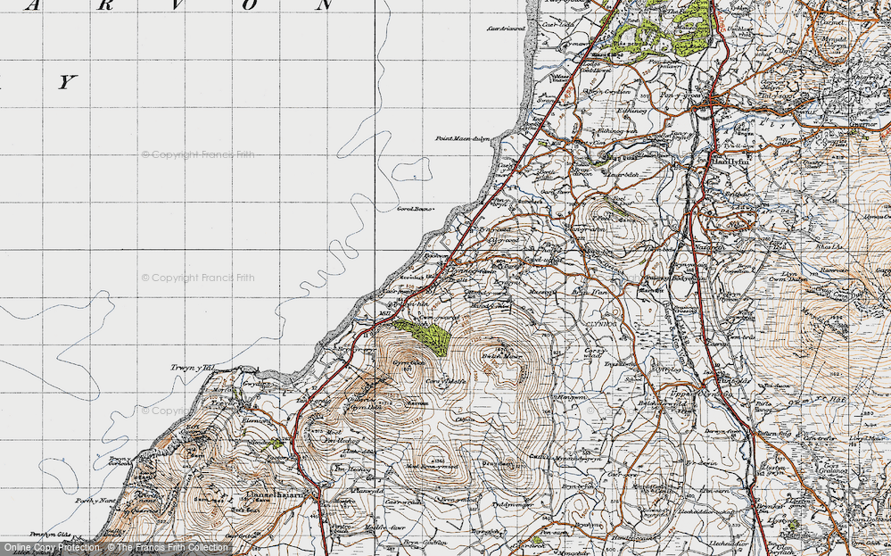 Old Map of Historic Map covering Bach Wen in 1947