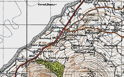 Old map of Yr Allt in 1947