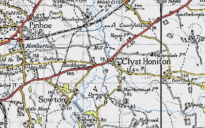 Old map of Wroford Manor in 1946