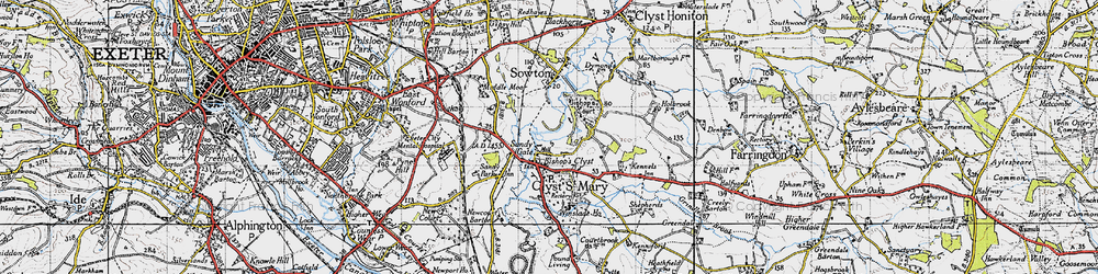 Old map of Winslade Park in 1946
