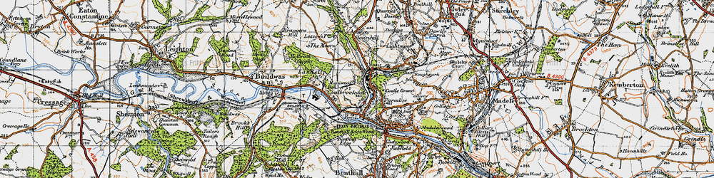 Old map of Coalbrookdale in 1947