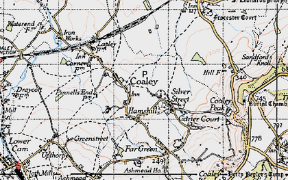 Old map of Coaley in 1946