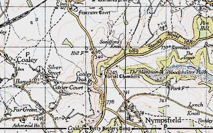 Old map of Coaley Peak in 1946