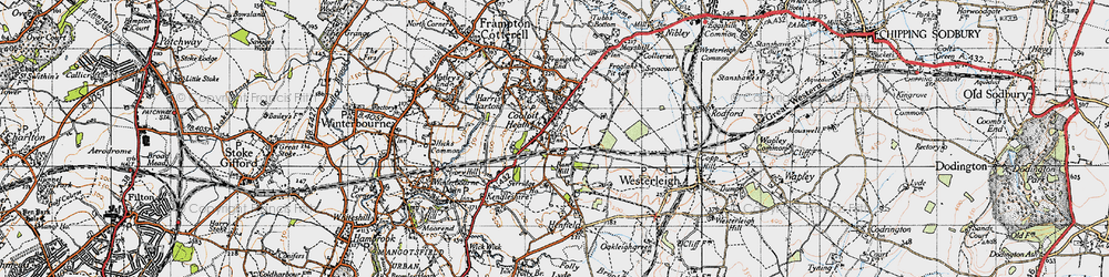 Old map of Coalpit Heath in 1946