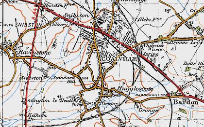 Old map of Coalville in 1946